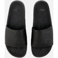 UGG Men's Xavier Luxe Leather Slide Sandals - Black - UK 8 - Black