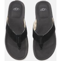 UGG Men's Braven Flip Flops - Black - UK 10 - Black
