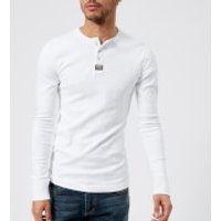 Superdry Mens Heritage Long Sleeve Grandad Top - Optic White - XXL - White