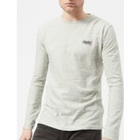 Superdry Men's Orange Label Vintage Embroidery Long Sleeve T-Shirt - Pale Spirit Space Dye - XXL - G