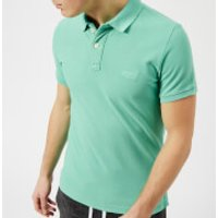 Superdry Men's Vintage Destroy Short Sleeve Pique Polo Shirt - Awesome Mint - S - Green
