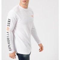 Superdry Men's Surplus Goods Long Sleeve Longline Top - Optic - XXL - White