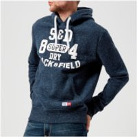 Superdry Mens Trackster Hoody - Lake Blue Grit - M - Blue