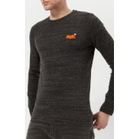 Superdry Men's Orange Label Vintage Embroidery Long Sleeve T-Shirt - Deep Night Marl Space Dye - L -