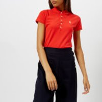 Polo Ralph Lauren Women's Julie Skinny Polo Shirt - Red - M - Red