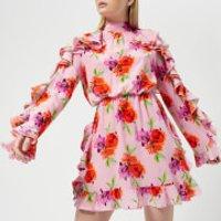 MSGM Women's Frill Detail Mini Dress - Pink - IT 42/UK 10 - Pink