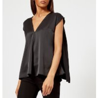 MSGM-Womens-V-Neck-Top-Black-IT-42UK-10-Black