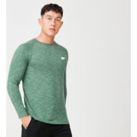 Performance Long-Sleeve Top - S - Dark Green Marl