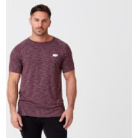 Myprotein Performance Short Sleeve Top - S - Burgundy Marl