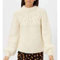 Ganni Women's The Julliard Mohair Jumper - Vanilla Ice - L - White