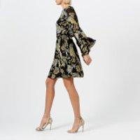 Gestuz Womens Maui Dress - Black Palm - EU 34/UK 6 - Multi