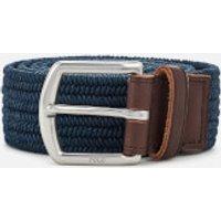 Polo Ralph Lauren Men's Braided Fabric Stretch Belt - Navy - S - Blue