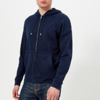 Lacoste Mens Zipped Hoody - Navy Blue - S - Navy