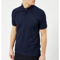 Lacoste Men's Hidden Placket Polo Shirt - Navy Blue - L - Navy
