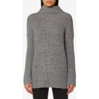 Joules Womens Prunella Ribbed Funnel Neck Jumper - Grey - UK 16 - Grey