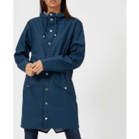 RAINS Womens Long Jacket - Faded Blue - S-M