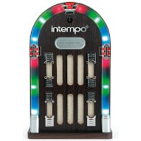 Intempo EE1269STK Mini Jukebox with Bluetooth and LED Lights   Brown