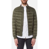 Tommy Hilfiger Mens Arlos Down Bomber Jacket - Deep Depths - M - Green