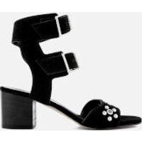 Rebecca Minkoff Women's Sofia Suede Heeled Sandals - Black - UK 7 - Black