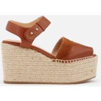 Castañer Enea Leather Wedged Sandals - Cuero