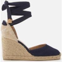 Castaner Castañer Women's Carina Wedged Sandals - Azul Marino - UK 4 - Blue