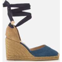 Castaner Women's Carina Wedged Sandals - Jeans - UK 6 - Blue