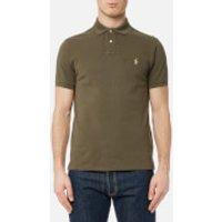 Polo Ralph Lauren Men's Short Sleeve Weathered Mesh Shirt - Defender Green - S - Green