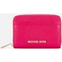 MICHAEL MICHAEL KORS Womens Zip Around Card Case - Ultra Pink