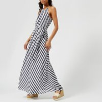 MICHAEL MICHAEL KORS Womens Chain Neck Maxi Dress - True Navy/White - S - Blue