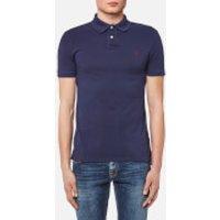 Polo Ralph Lauren Men's Weathered Mesh Short Sleeve Polo Shirt - Windsor Navy - L - Navy