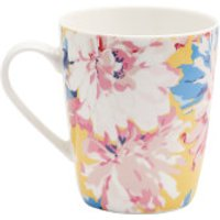 Joules Single China Mug - Yellow Whitstable Floral