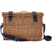 Joules Wicker Basket Four Person Picnic Set - Grey Whitstable Floral