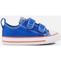Converse Toddlers' Chuck Taylor All Star 2V Ox Trainers - Hyper Royal/Bright Poppy/White - UK 3 Todd