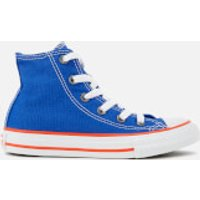 Converse Kids' Chuck Taylor All Star Hi-Top Trainers - Hyper Royal/Bright Poppy/White - UK 10 Kids -