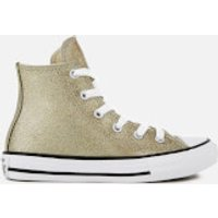 Converse Kids' Chuck Taylor All Star Hi-Top Trainers - Gold/Natural/White - UK 2 Kids - Gold