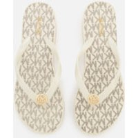 MICHAEL MICHAEL KORS Women's Bedford Stripe Flip Flops - Vanilla - US 8/UK 5 - White