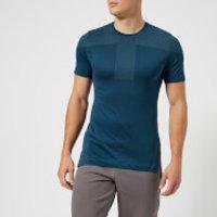 Asics Running Mens Cool Short Sleeve Seamless T-Shirt - Dark Blue - XL - Blue