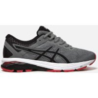 Asics Mens GT-2000 6 Trainers - Stone Grey/Black/Classic Red - UK 8 - Grey