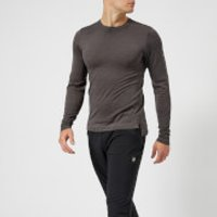 Asics Running Mens Long Sleeve Seamless Top - Dark Grey Heather - S - Grey