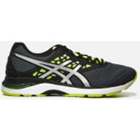 Asics Running Mens Gel-Pulse 9 Trainers - Carbon/Silver/Safety Yellow - UK 8 - Grey