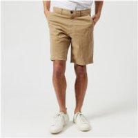 Michael Kors Mens Garment Dyed Chino Shorts - Khaki - W36 - Green
