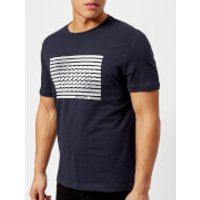 Michael Kors Mens Do the Wave Short Sleeve Graphic T-Shirt - Midnight - M - Blue
