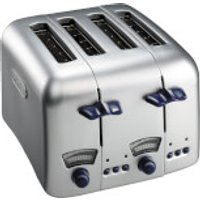 DeLonghi CT04.C Argento 4 Slice Toaster - Stainless Steel