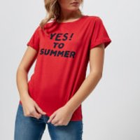 A-P-C--Womens-Yes-To-Summer-TShirt-Red-M-Red