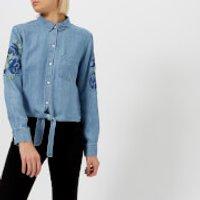 Rails Women's Val Shirt - Medium Vintage Floral Patch - XS - Blue