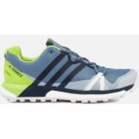 adidas Terrex Mens Agravic Gore-Tex Hiking Shoes - Raw Steel/Collegiate Navy/Solar Slime - UK 11 - Grey