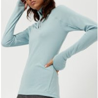 adidas Terrex Women's Tracero 1/2 Zip Long Sleeve Top - Ash Grey - UK 12 - Blue