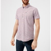 Barbour Mens Newton Short Sleeve Checked Shirt - Navy - S - Navy