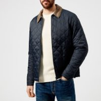 Barbour Mens Helm Quilted Jacket - Navy - M - Navy