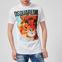 Dsquared2 Men's Lion Print T-Shirt - White - M - White